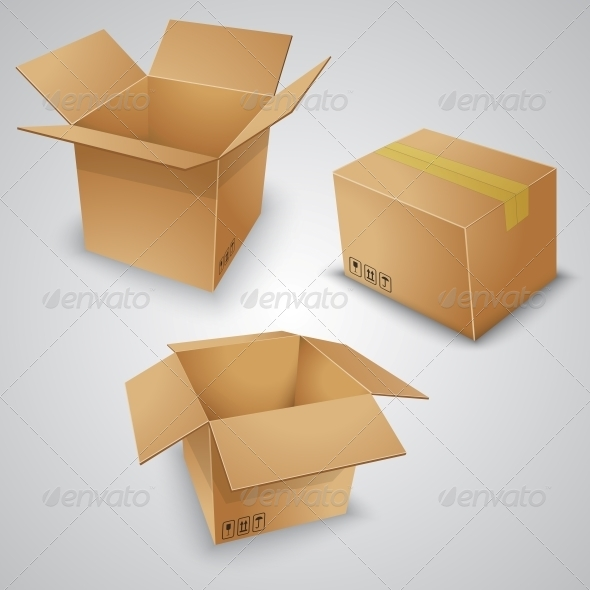 GraphicRiver Cardboard Boxes 6795751