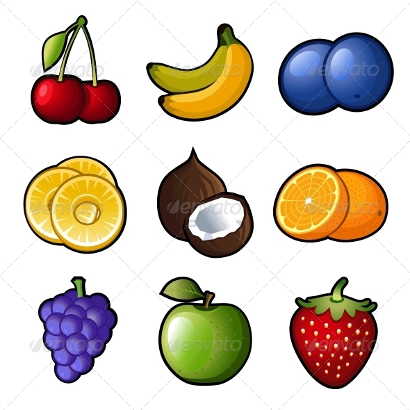GraphicRiver Set Fruit Icons 6795767