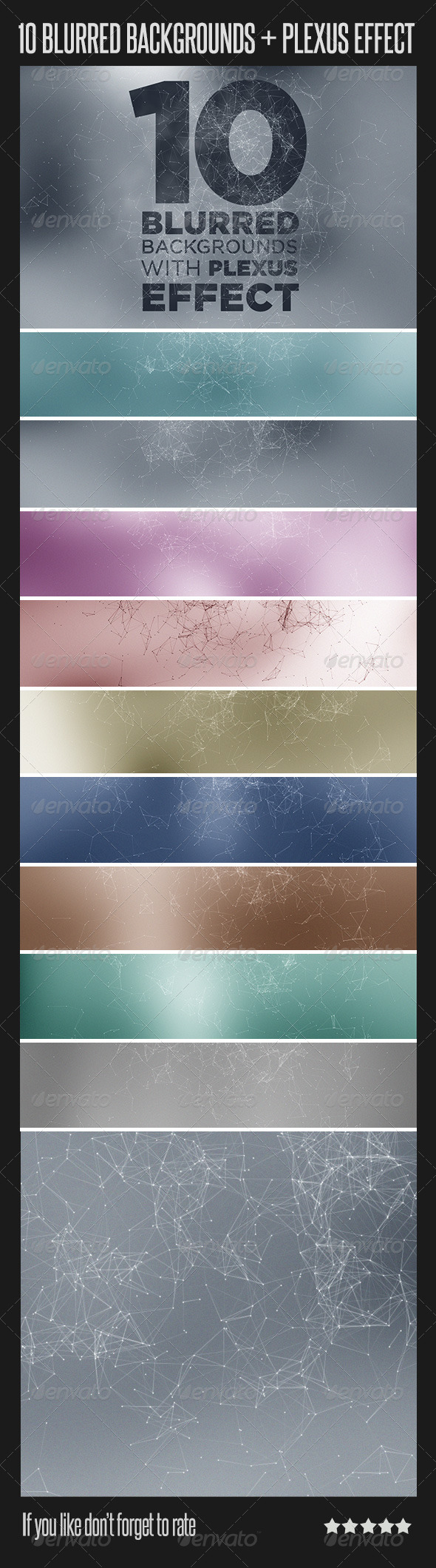 GraphicRiver 10 Blurred Backgrounds with Plexus Effect 6795789