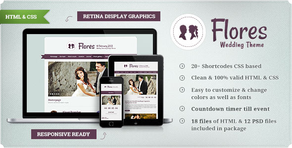 Flores - Elegant Wedding Template