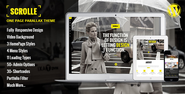 ThemeForest Scrolle Parallax One Page WordPress Theme 6655047