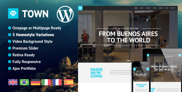 Town - Responsive Multi-Purpose One Page Theme