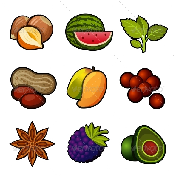 GraphicRiver Set of Fruit Icons 6796101