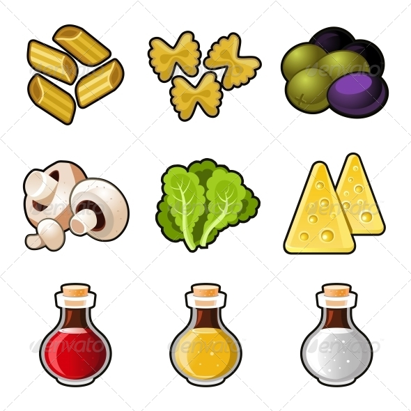 GraphicRiver Italian Food Icon Set 6796103