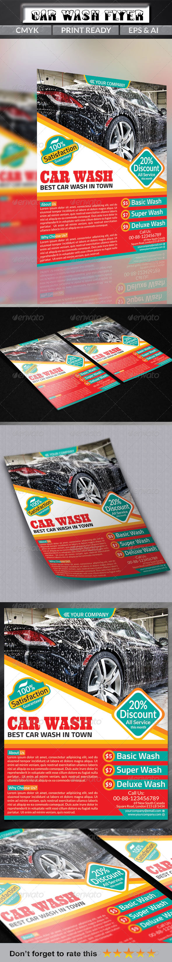 GraphicRiver Car Wash Flyer 6796202