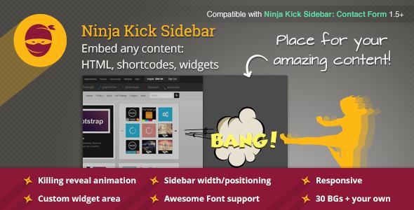 CodeCanyon Ninja Kick Sidebar Custom Content 6796296