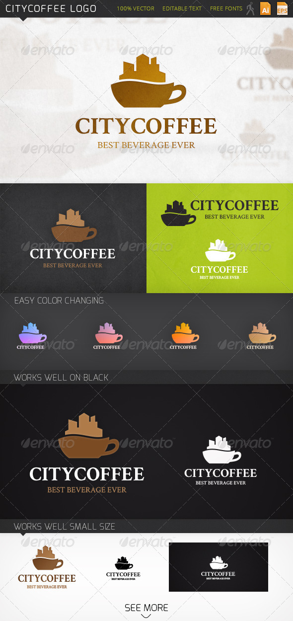 GraphicRiver Citycoffee Logo 6796320