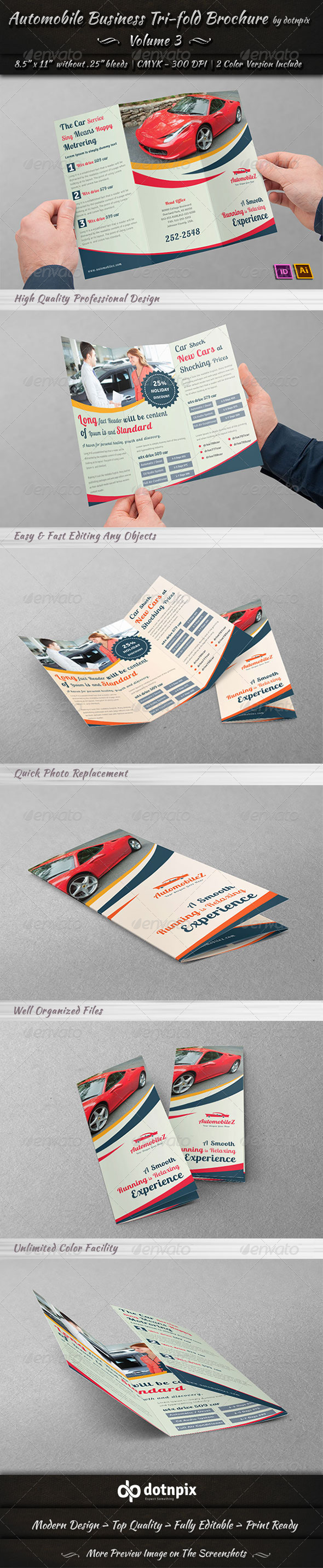 GraphicRiver Automobile Business Tri-Fold Brochure Volume 3 6796520