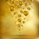 Abstract Flying Golden Hearts - GraphicRiver Item for Sale