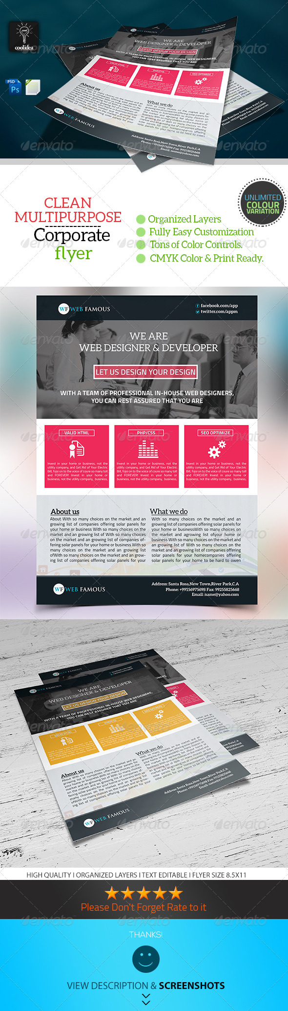 GraphicRiver Web Proposal A4 Flyer Template 6796623