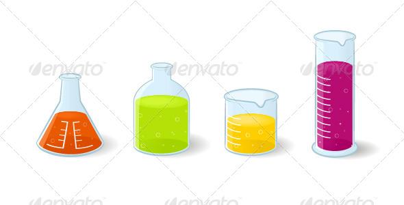 GraphicRiver Chemistry Bottles 6796845