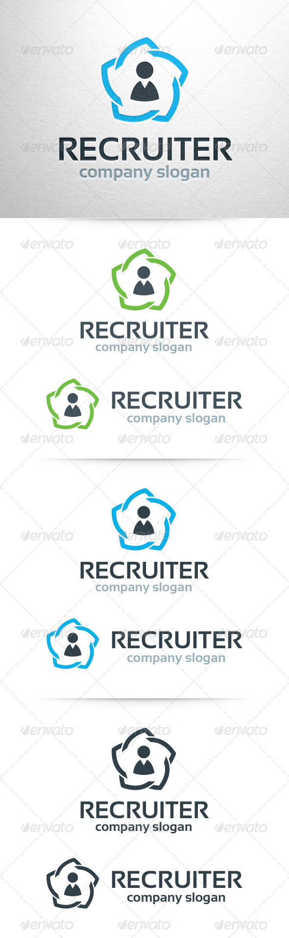 GraphicRiver Recruiter Logo Template 6796925