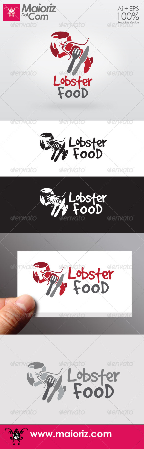 GraphicRiver Lobster Food Logo 6796973