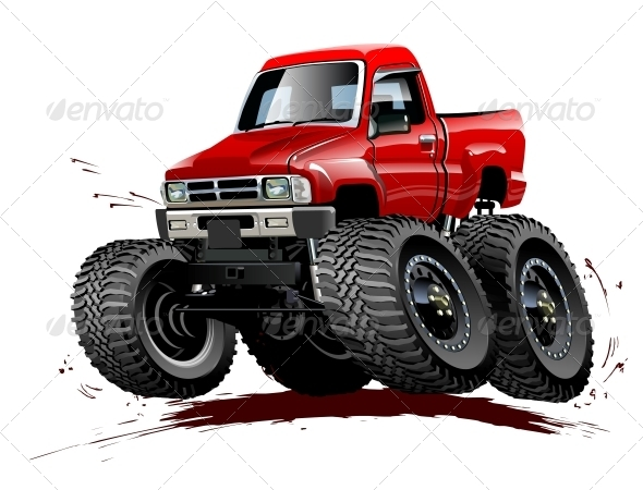 GraphicRiver Cartoon Monster Truck One-Click Repaint 6796981