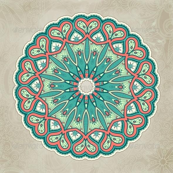 GraphicRiver Ornamental Lace Pattern Circle 6796987