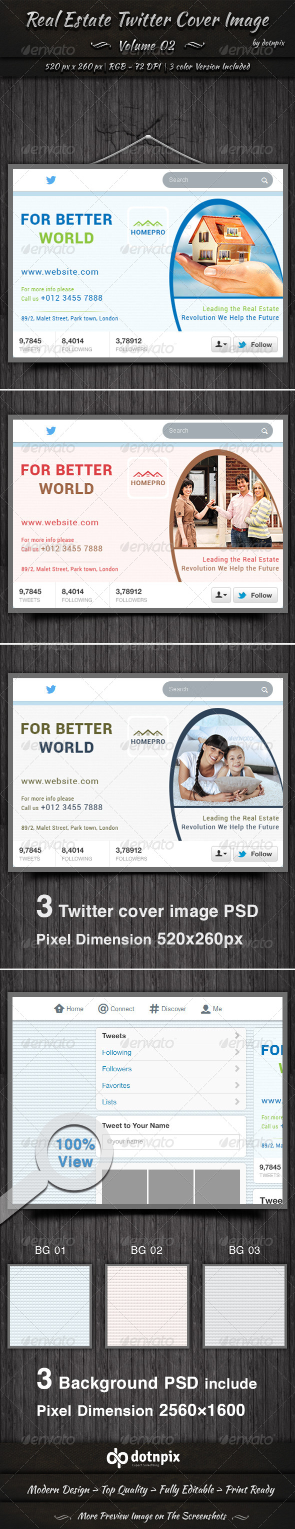 GraphicRiver Real Estate Business Twitter Cover Kit Volume 2 6796989