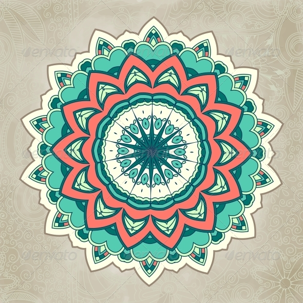 GraphicRiver Ornamental Lace Pattern Circle 6796990