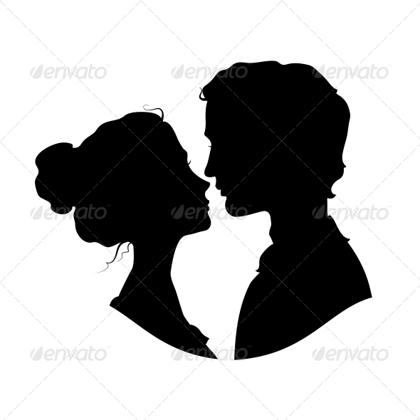 GraphicRiver Silhouettes of Loving Couple 6797208