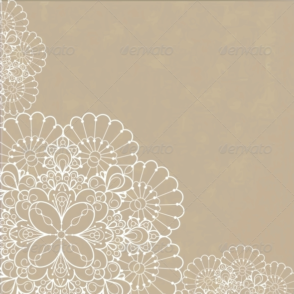 GraphicRiver Retro Background with Lace Ornament 6797260