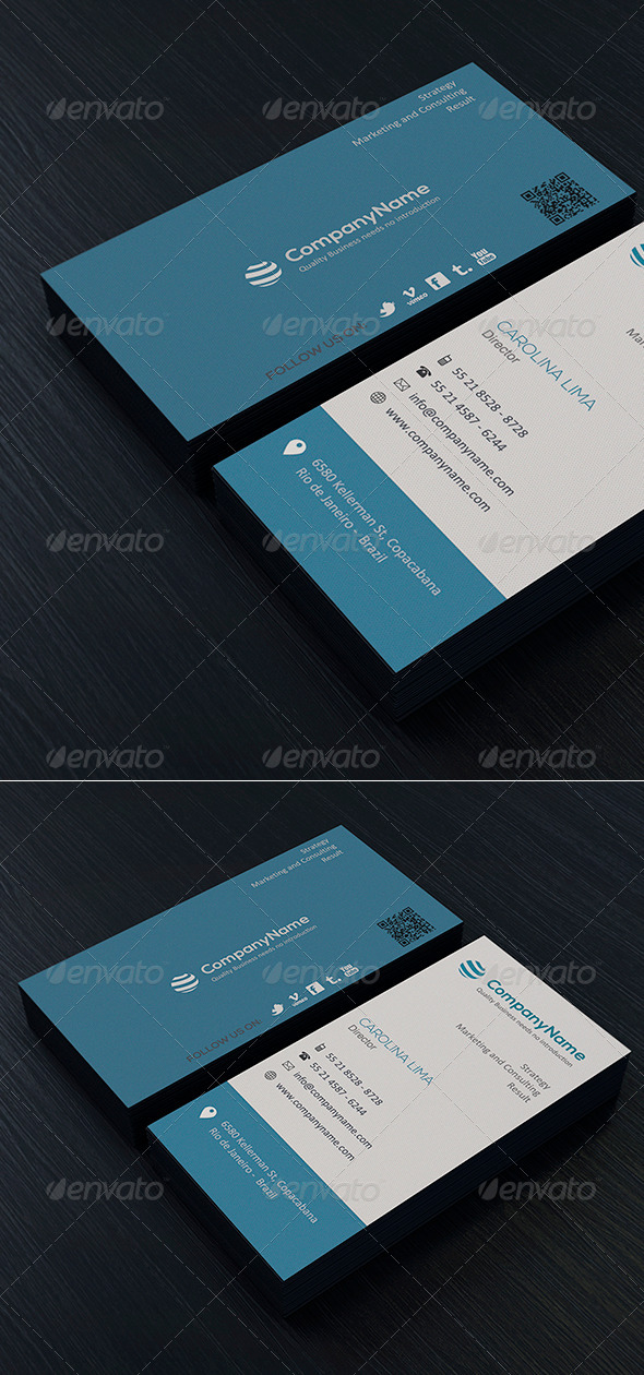 Clean Business Card Vol. 04 - Corporate Business Cards