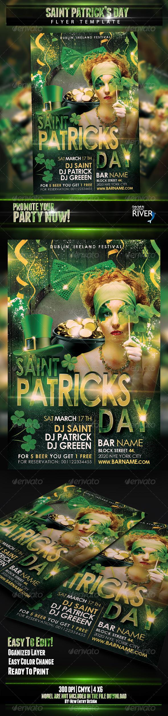 GraphicRiver Saint Patricks Flyer Template 6797907
