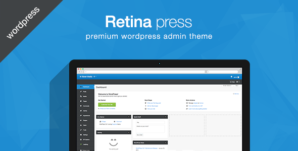 Retina press premium WordPress tema admin