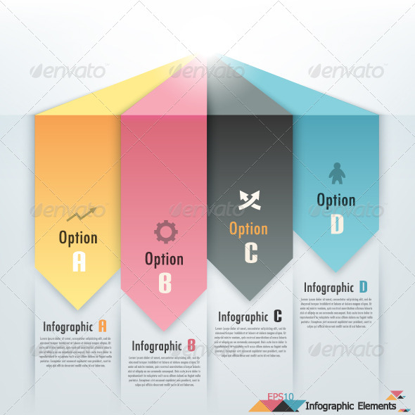 GraphicRiver Modern Infographics Options Banner With Ribbons 6797953