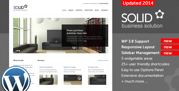 Solid WP v2 - Corporate / Business WordPress Theme