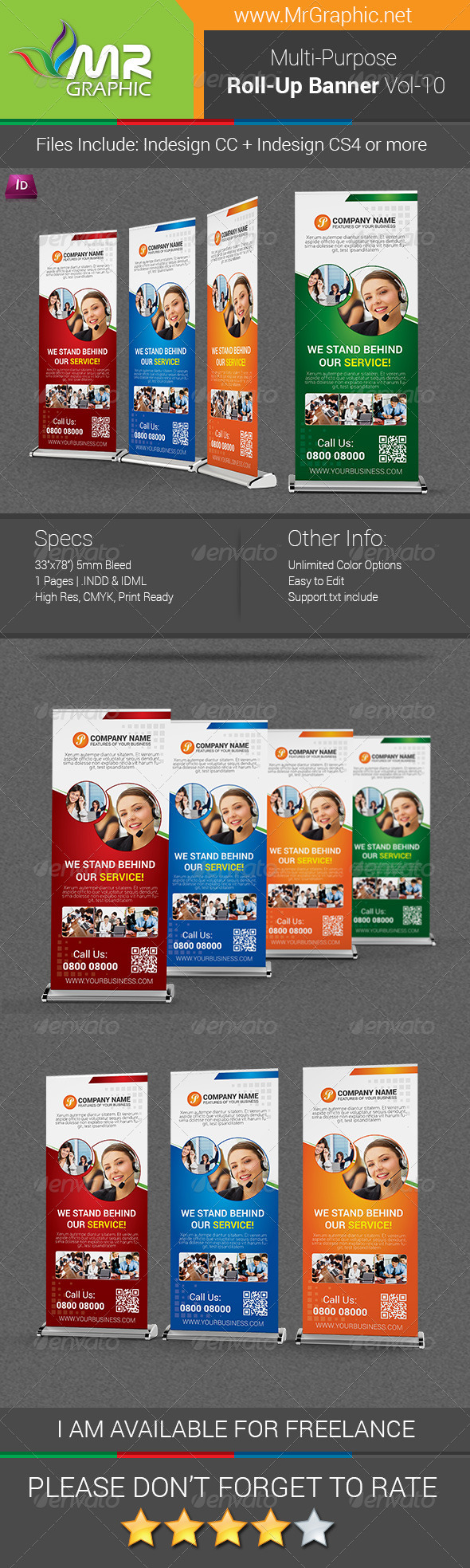GraphicRiver Multipurpose Business Roll-Up Banner Vol-10 6798263