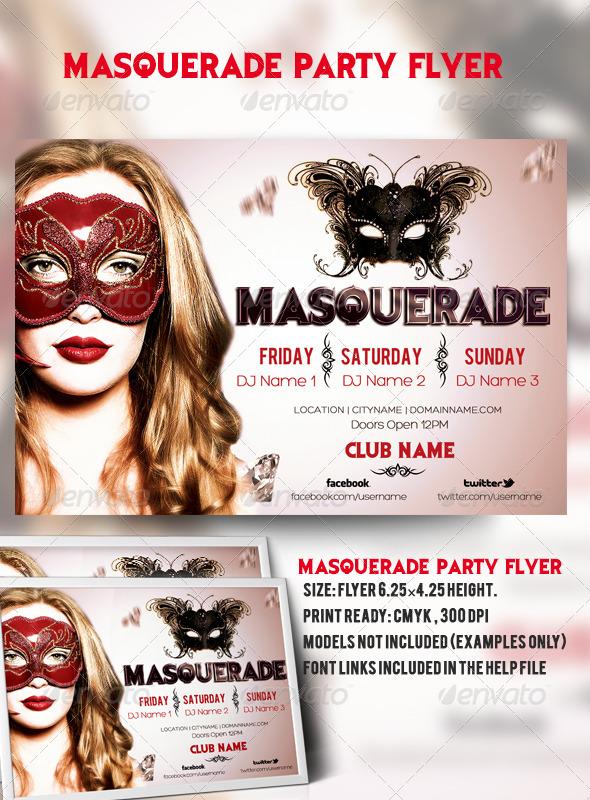 GraphicRiver Masquerade Party Flyer 6797874