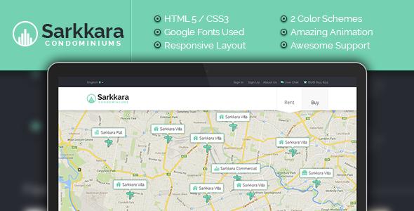 ThemeForest Sarkkara Responsive Real Estate HTML5 Template 6750195