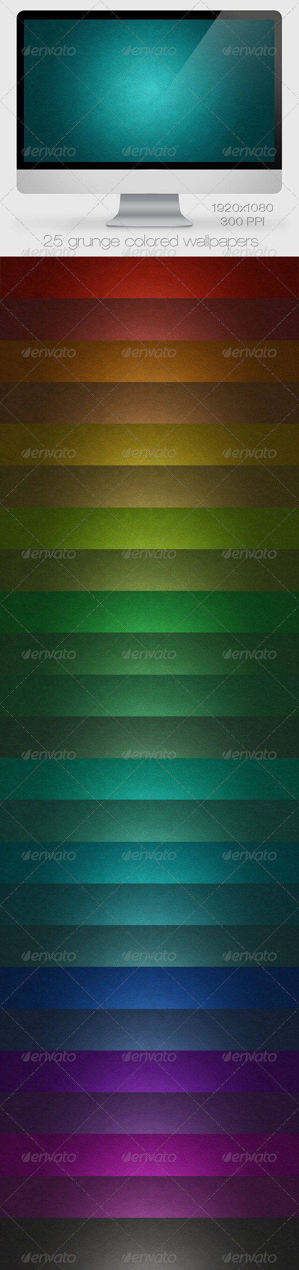 GraphicRiver 25 Grunge Colored Wallpapers Backgrounds 6786229