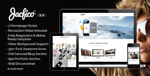 Jacfico - Responsive Onepage Parallex Template