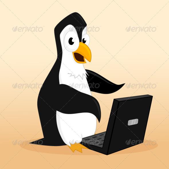 GraphicRiver Penguin Hacker 6798317