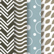 16 Patterns with Circles, Waves and Chevron - GraphicRiver Item for Sale