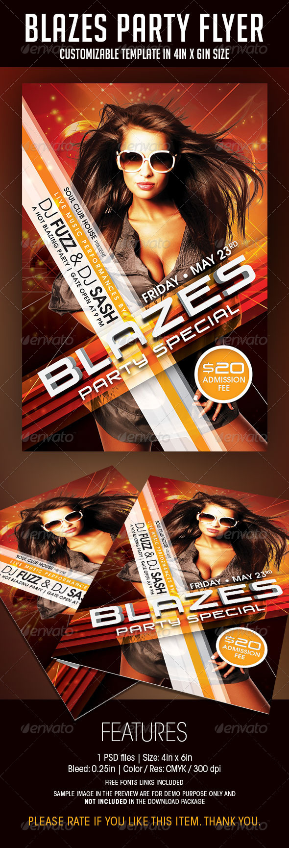 GraphicRiver Blazes Party Flyer 6798442