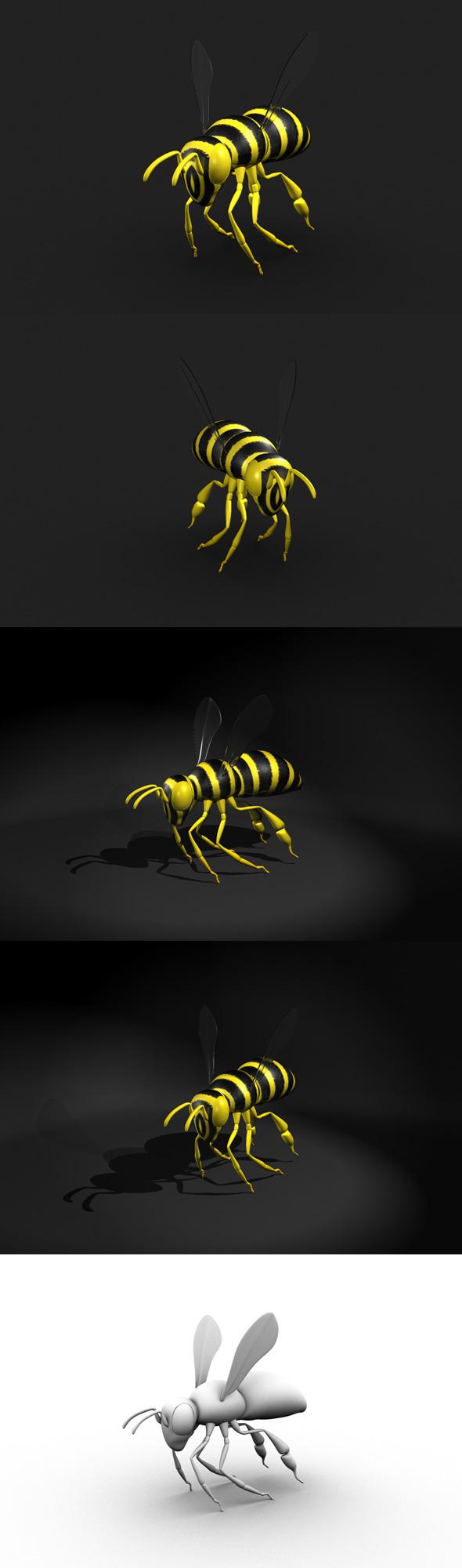 Bee Model - 3DOcean Item for Sale