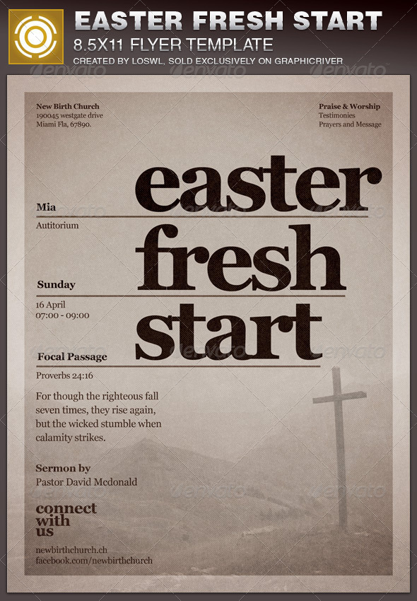 GraphicRiver Easter Fresh Start Church Flyer Template 6798894