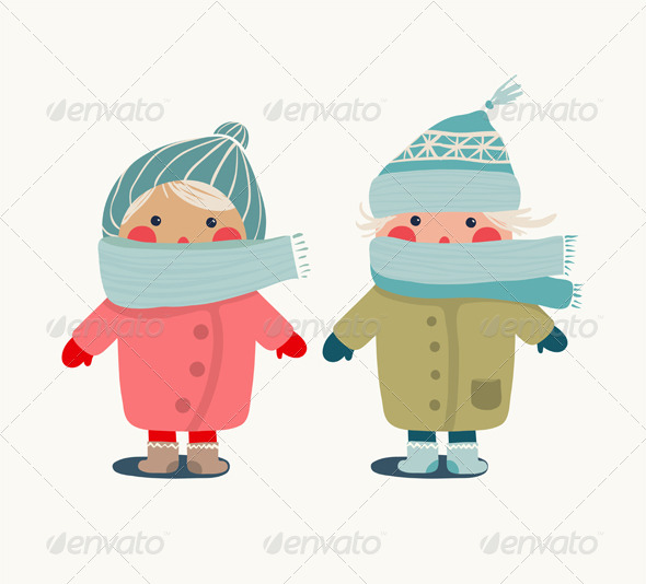 GraphicRiver Children in Winter Clothes 6798953