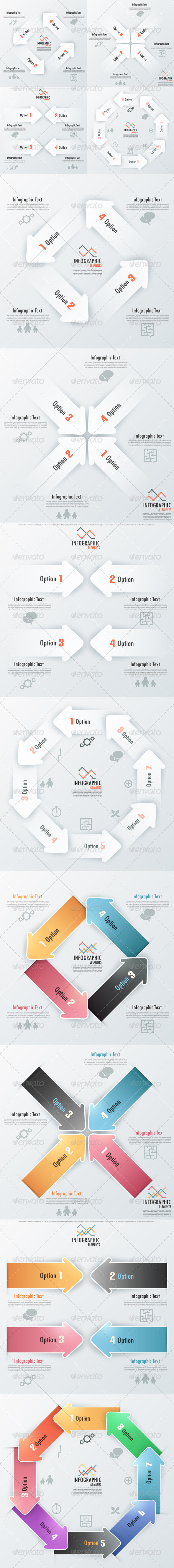 GraphicRiver Set Of 8 Infographic Banners With Arrows 6799117
