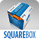 Realistic Square Packaging Box Mock-Up - GraphicRiver Item for Sale