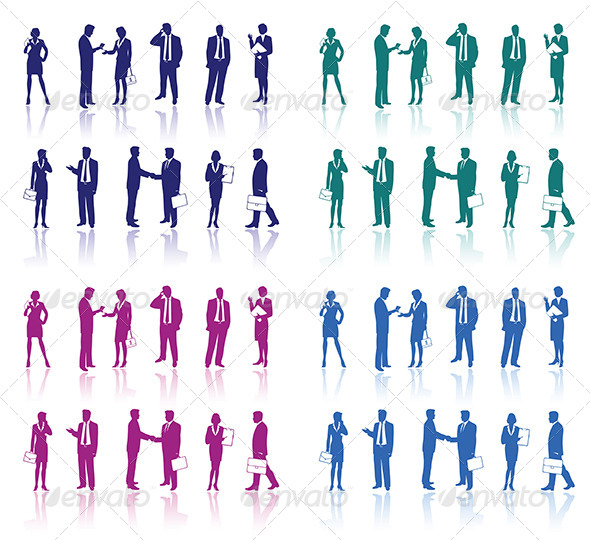 GraphicRiver Business People Silhouettes 6799183