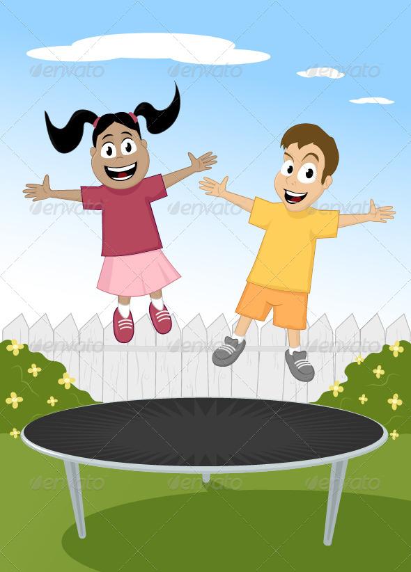 GraphicRiver Children on Trampoline 6799450