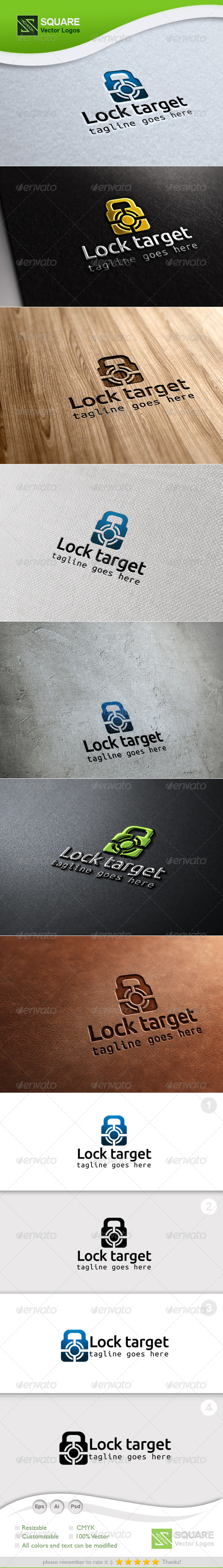 GraphicRiver Lock Target Vector Logo Template 6799632