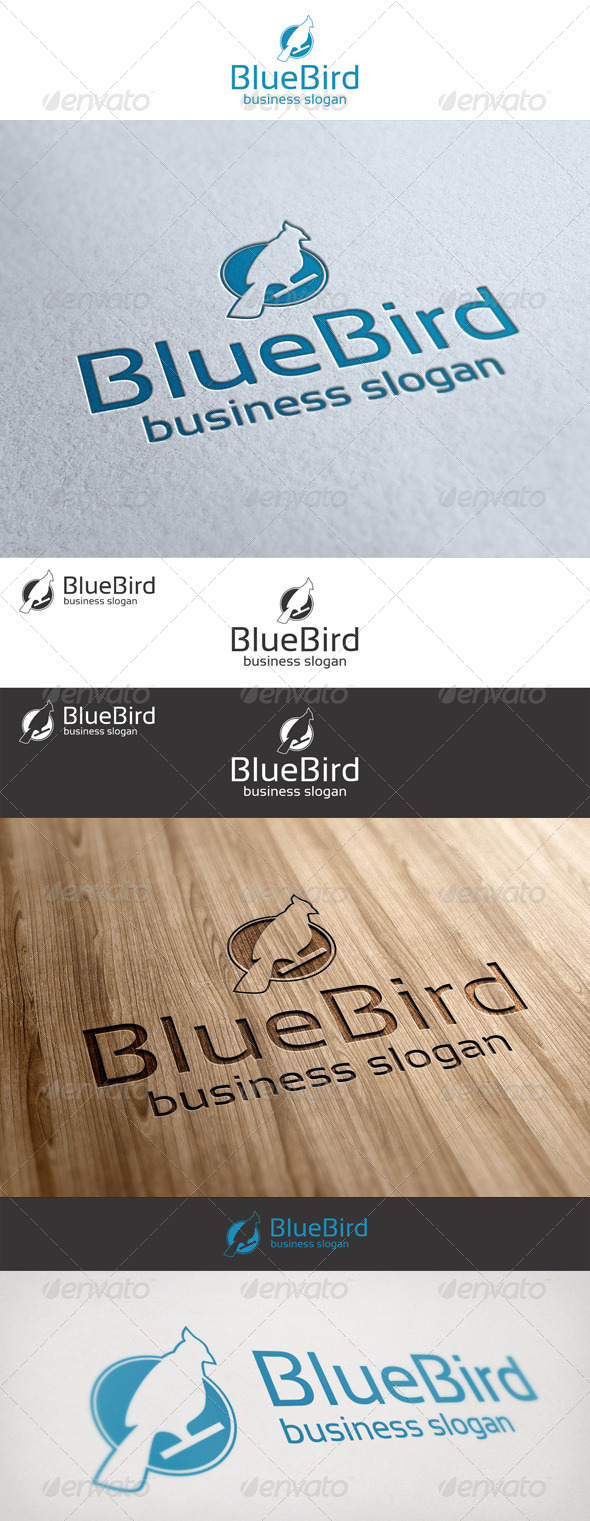 GraphicRiver Blue Bird Logo 6799786