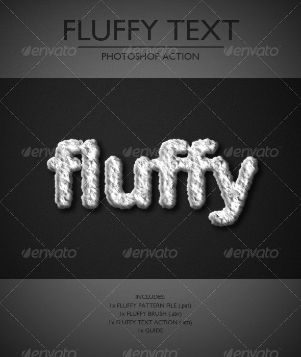 GraphicRiver Fluffy Text Photoshop Action 6751130