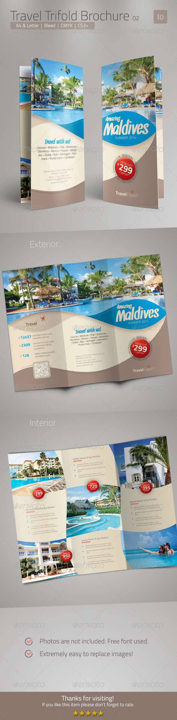 GraphicRiver Travel Brochure Trifold 6800019