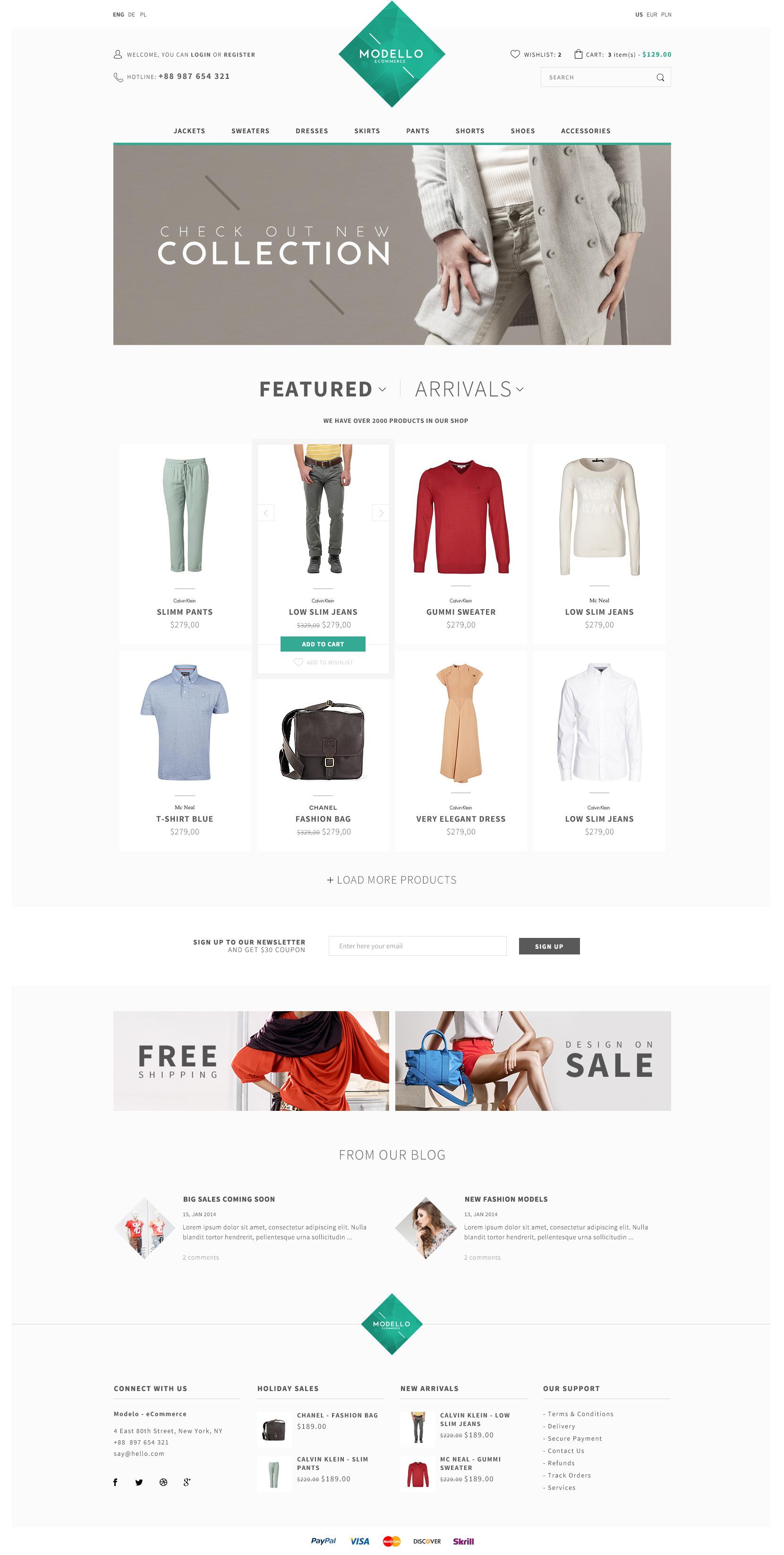 Modello - eCommerce PSD Template