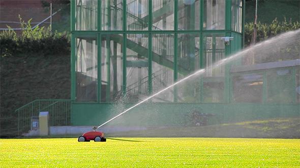 Sprinkle On The Baseball Field School