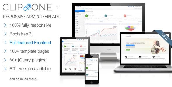 Clip-One - Bootstrap 3 Responsive Admin Template - Premium